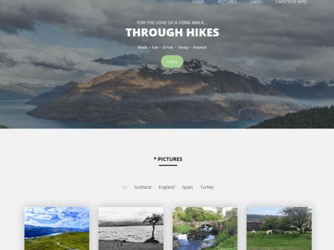 Hiking Website Capture